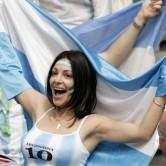 喜びいっぱいアルゼンチンの美女