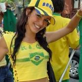 笑顔が眩しいブラジル美女